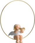 6308/36, Christmas Tree Angel in Ring, with Trumpet