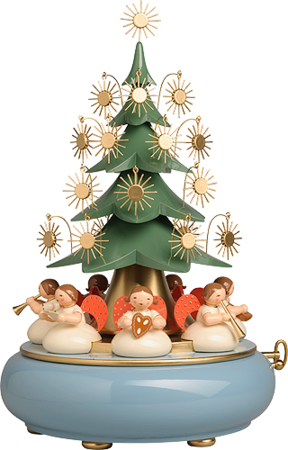 5336/41A, Music Box with Angels sitting under the Tree, with 36-tone Music Works