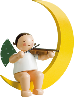 771/2, Angel with Violin, in Moon, Large
