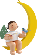 650/70/12b, Angel with Songbook and Bird, in Moon