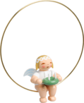 6308/155, Christmas Tree Angel in Ring, with Wreath