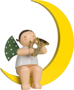 771/17, Angel with French Horn, in Moon, Large