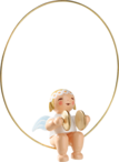 6308/11, Christmas Tree Angel in Ring, with Cymbals