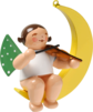 650/80/2, Angel with Violin, in Moon