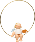 6308/150, Christmas Tree Angel in Ring, with Gingerbread