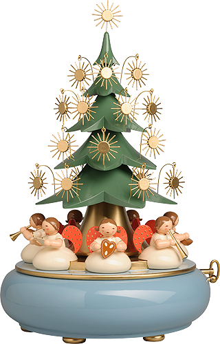 5336/41A, Music Box with Angels sitting under the Tree, with 36-note Musical Movement