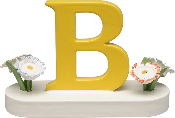 Letter B, with Flowers
