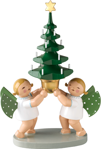 Group of Angels with Tree