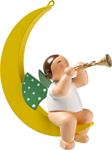Angel with Trumpet, in Moon