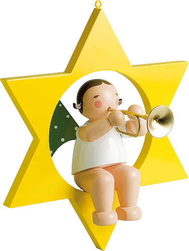 Angel with Trumpet, in Star, Large