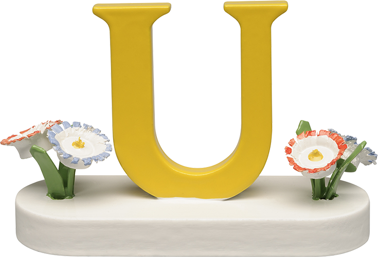Letter U, with Flowers