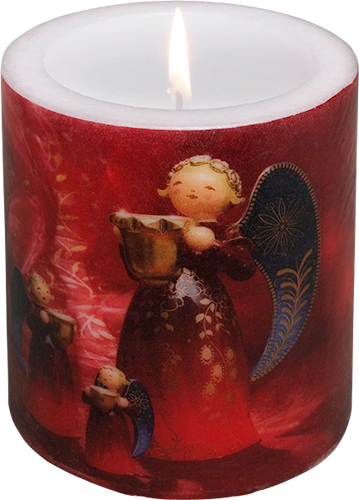 "Candle ""Richly Painted Angels"""