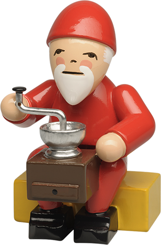 Gnome with Coffee Grinder