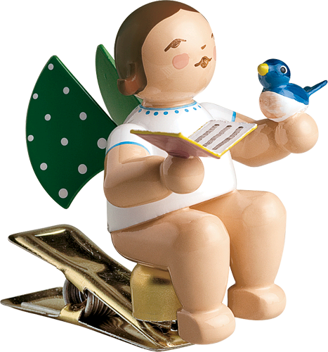Angel with Songbook and Bird, on Clip
