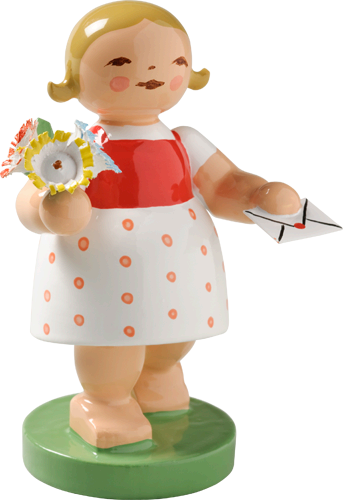 Goodwill Girl with Letter and Flower