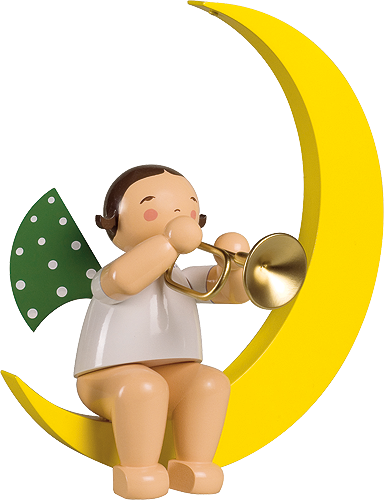 Angel with Trumpet, in Moon, Large