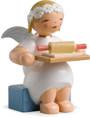 Marguerite Angel, Sitting, with Rolling Pin and Cookie Dough