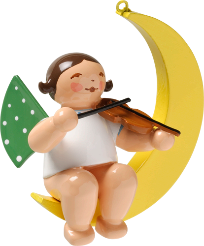 Angel with Violin, in Moon
