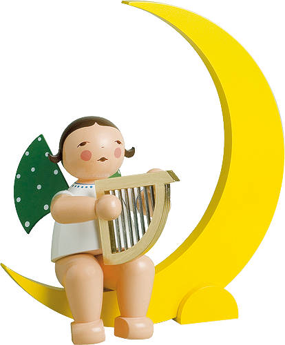 Angel with Harp, in Moon, Large