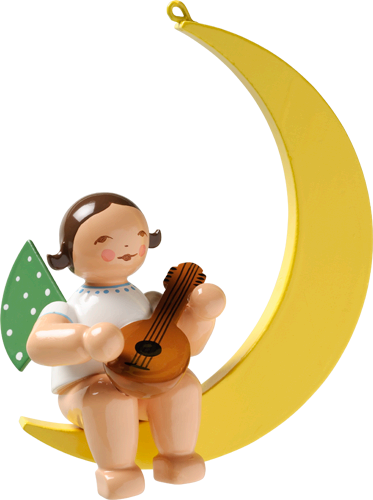Angel with Mandolin, in Moon