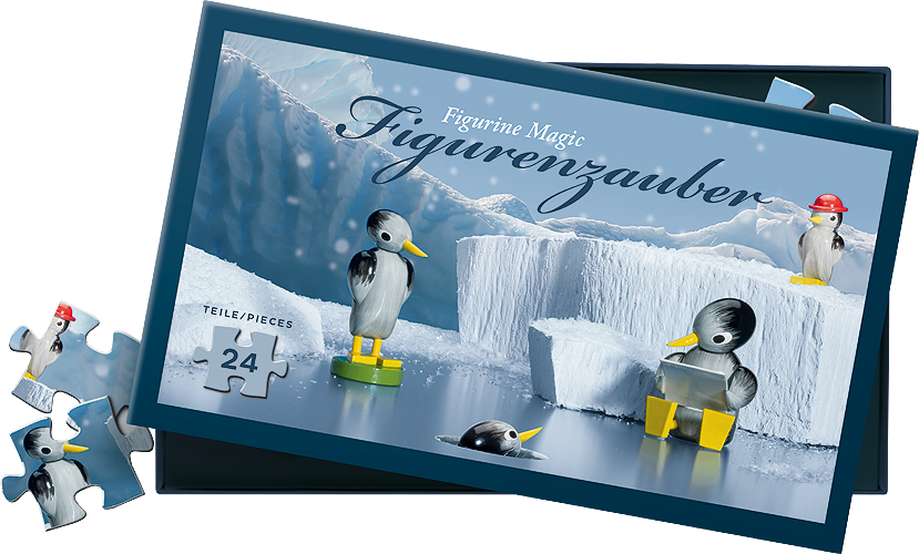 "Jigsaw Puzzle, ""Penguins on Ice"", 24 Pieces"