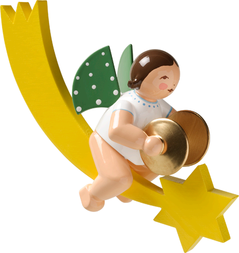 Angel with Cymbals, on Comet Tail