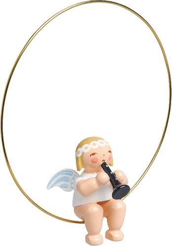 Christmas Tree Angel, in Ring with Clarinet