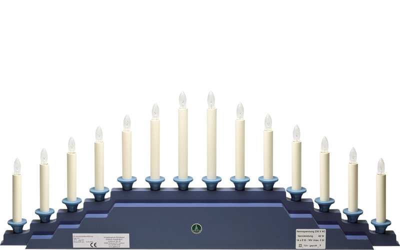 Electric Lighting for Angel Mountain 550/B5OHN, 230V/42W, 14 Candles