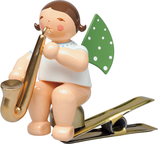 Angel with Saxophone, on Clip