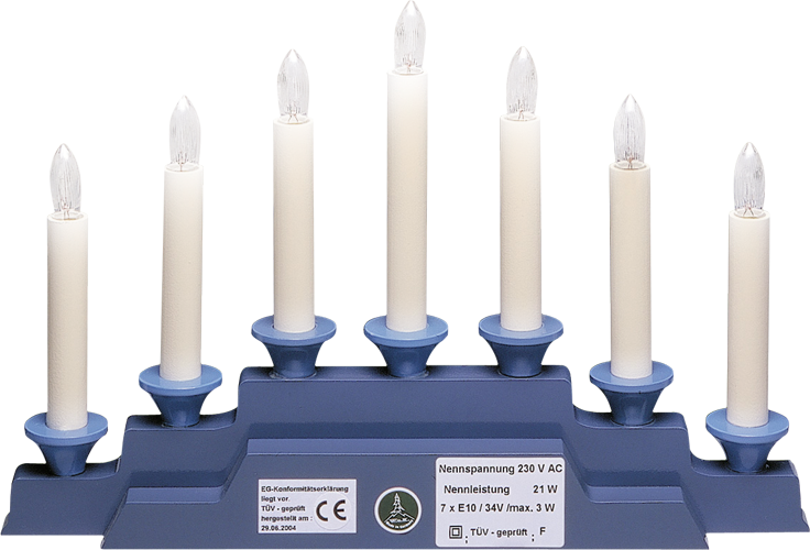 Electric Lighting for Angel Mountain 550/B, 230V/21W, 7 Candles