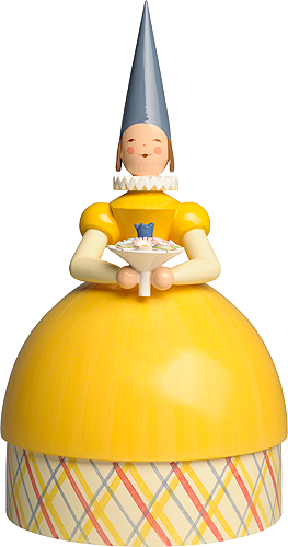 Knitting Lady Princess, Yellow Dress