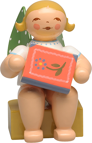 Calendar Figurine 2020, Angel with Fairy Tale Book
