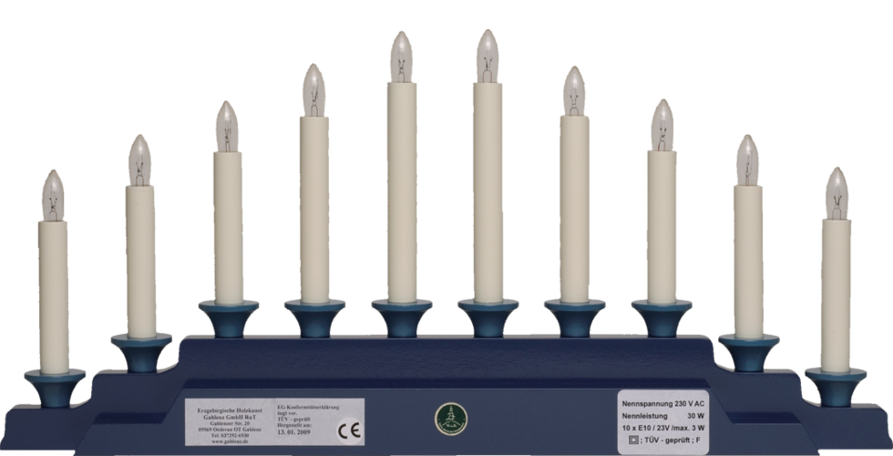 Electric Lighting for Angel Mountain 550/B3OHN, 230V/30W, 10 Candles