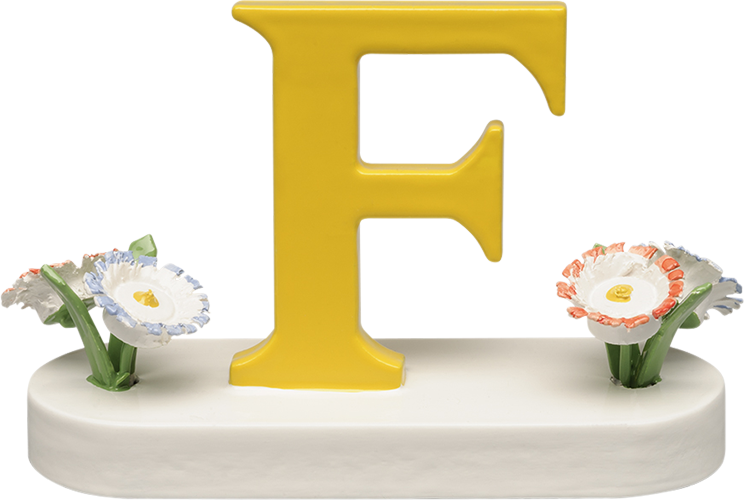 Letter F, with Flowers