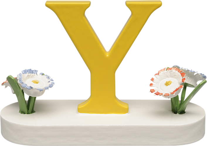 Letter Y, with Flowers