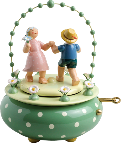 "Music Box ""Two Dancers in the Garden"", with 36-tone Music Works"