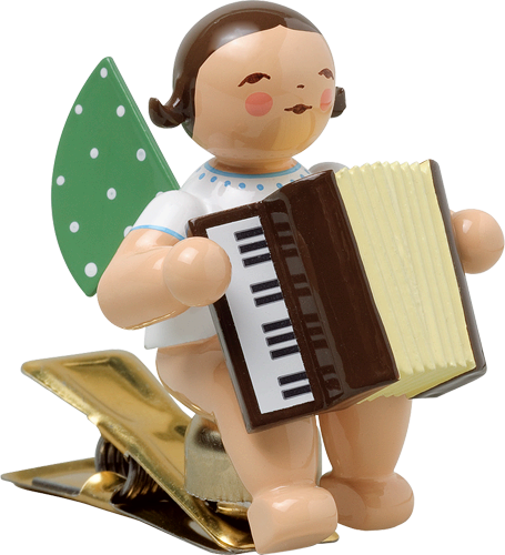 Angel with Accordion, on Clip